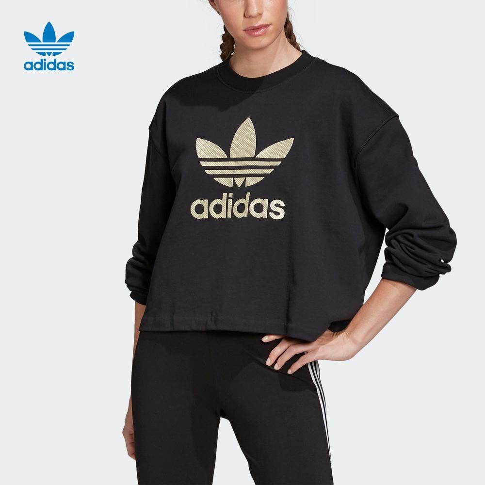 阿迪达斯官网 adidas 三叶草 LG CREW 女装运动卫衣FM2623 FM2626
