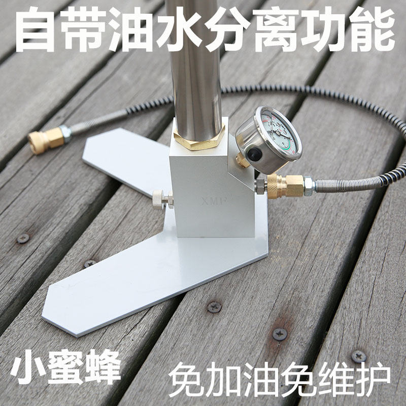 高压打气筒40map30mpa手动型三四级超强气动不锈钢高压30mp小蜜蜂