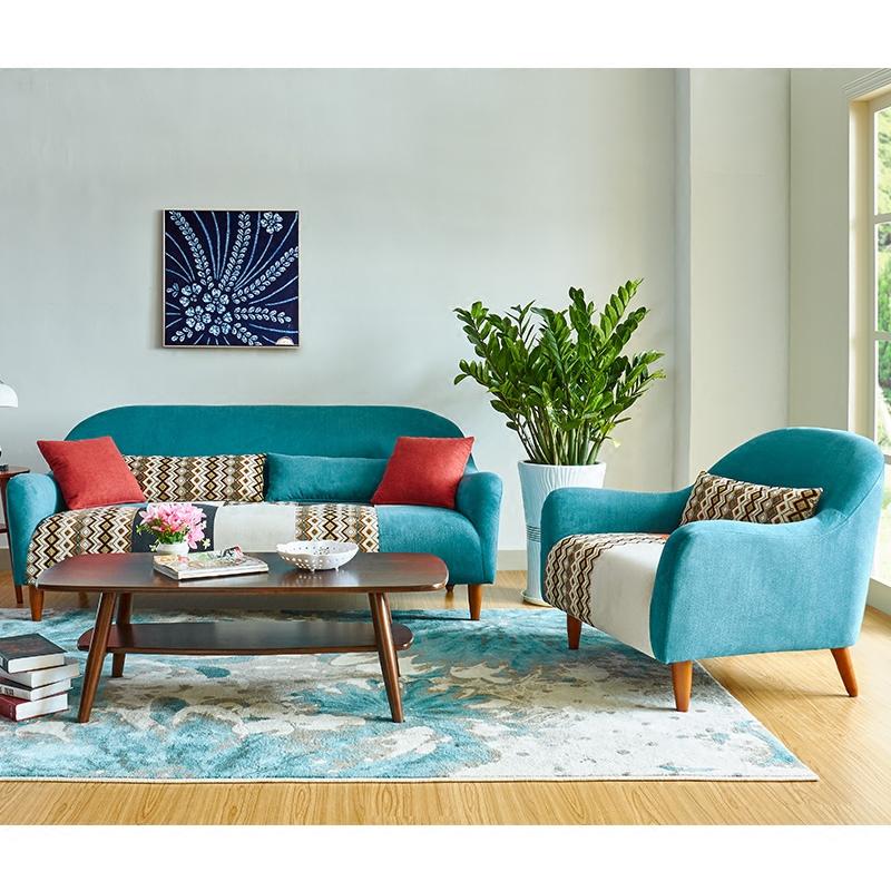 小户型北欧风格家具日式现代简约单人双人三人座小客厅布艺沙发床