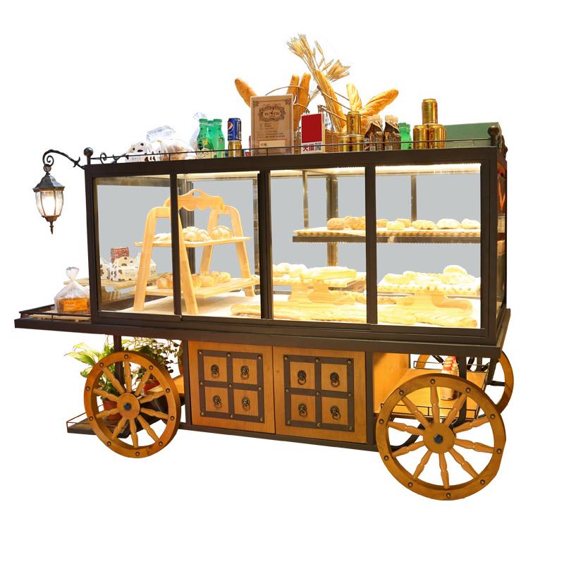 面包展示柜 蛋糕柜面包柜台展柜糕点货架中岛柜边柜玻璃商用架子