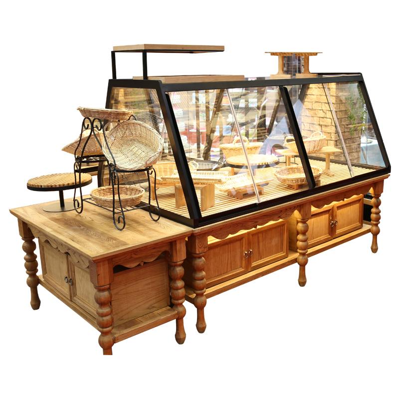 面包中岛展示柜柜台边岛柜烘焙店展示柜蛋糕房面包陈列展示架货架