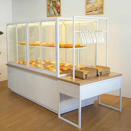 Bread Cabinet Bread Display Cabinet Bread Rack Middle Island Cabinet Side Cabinet Cake Shop Equipment Full Set Of Display Rack Glass Commercial