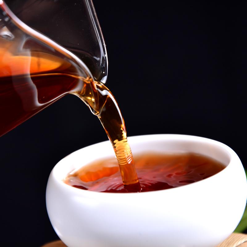 布朗茶叶熟茶饼 普洱茶熟茶 勐海金芽小饼 1000g 片整提购划算 10
