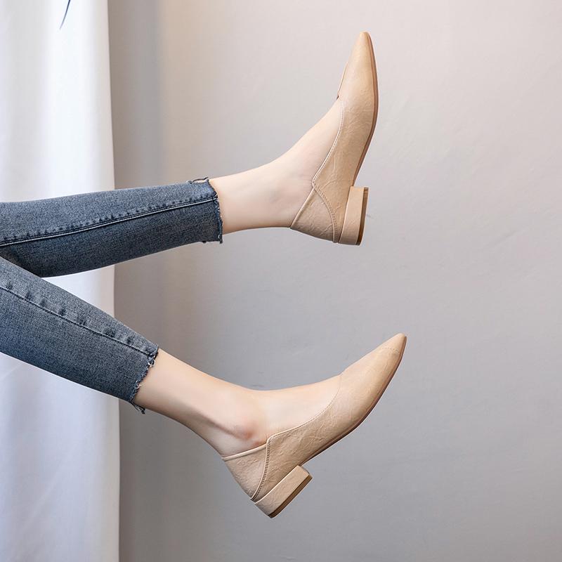 大码女鞋41-43夏季百搭2019新款潮时尚尖头单鞋40一43脚宽胖妹妹