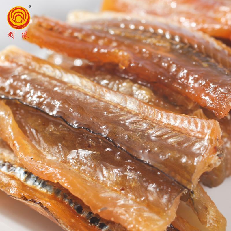 250g 明珠舟山特产海鲜干货鱼片干散装称重香酥鳗鱼干