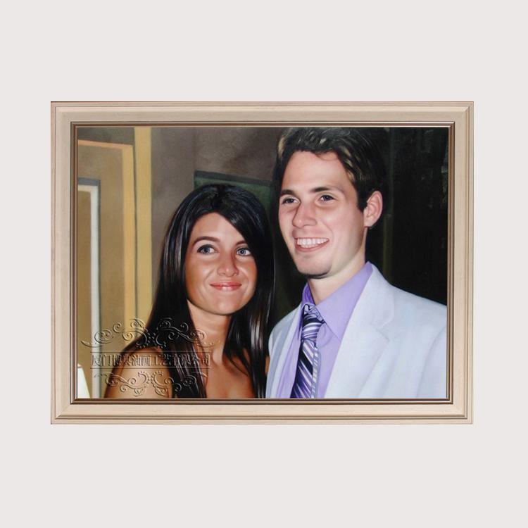 手绘油画定制人物肖像照片定做 手工私人订制创意礼品生日礼物