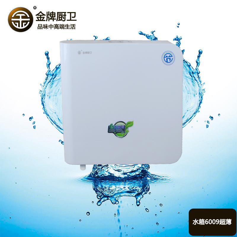 金牌厨卫 卫生间水箱蹲便器冲水箱挂墙式薄款节能白色抽水箱家用