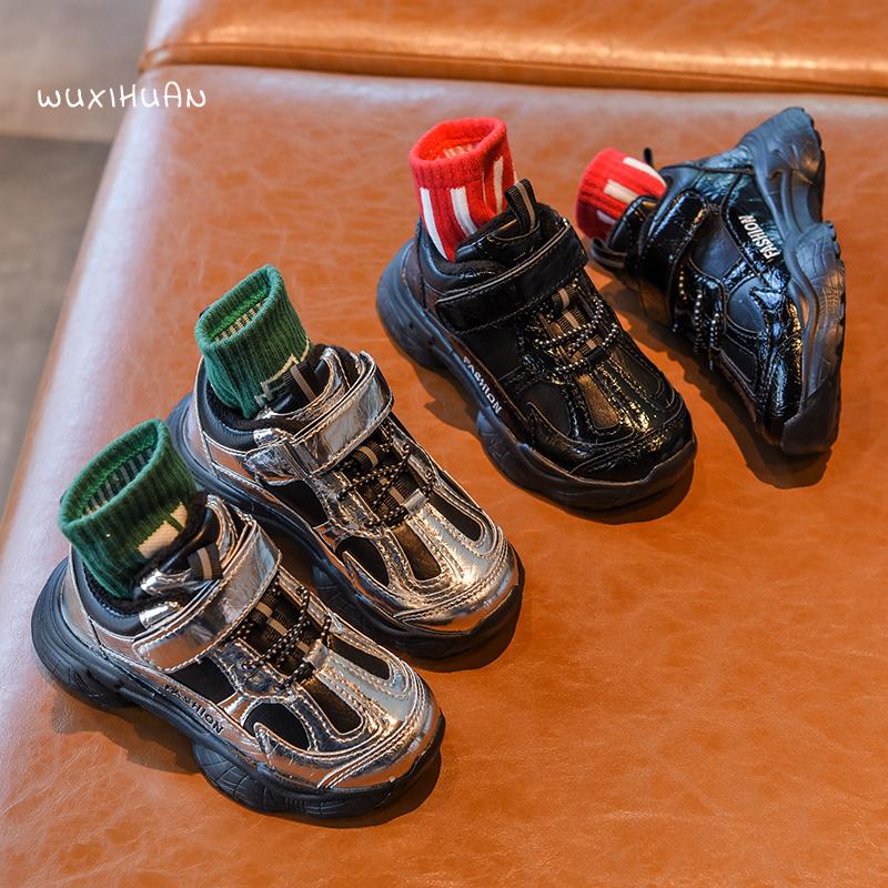 新款秋冬儿童运动鞋二棉加绒休闲鞋防滑中大童老爹鞋 2019 男童鞋子