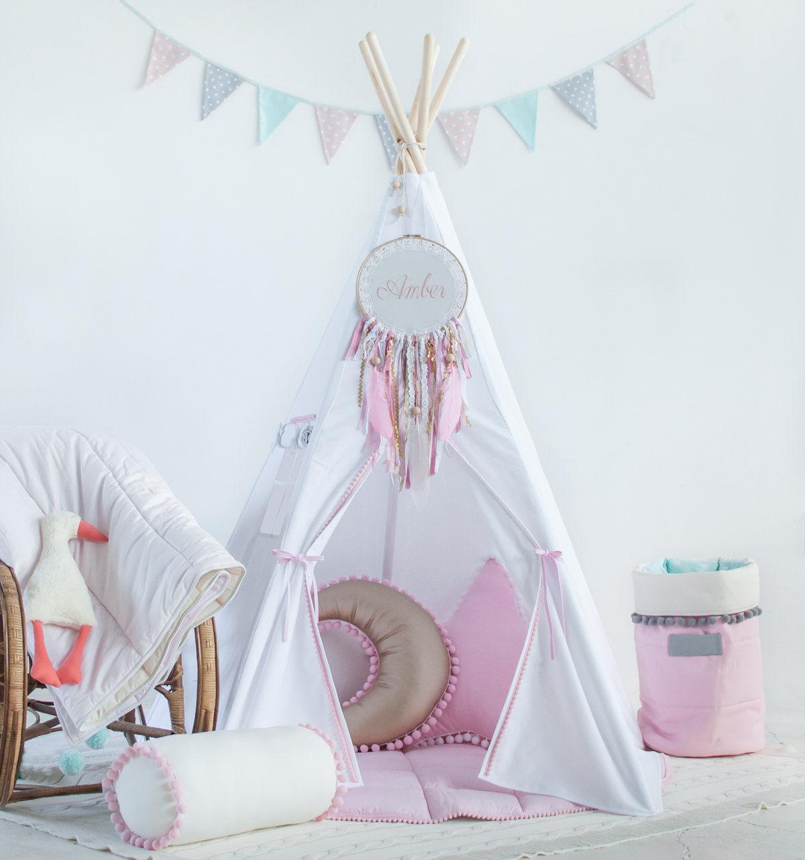 五角印第安儿童布艺帐篷室内公主儿童布艺ins游戏屋影楼摄影道具