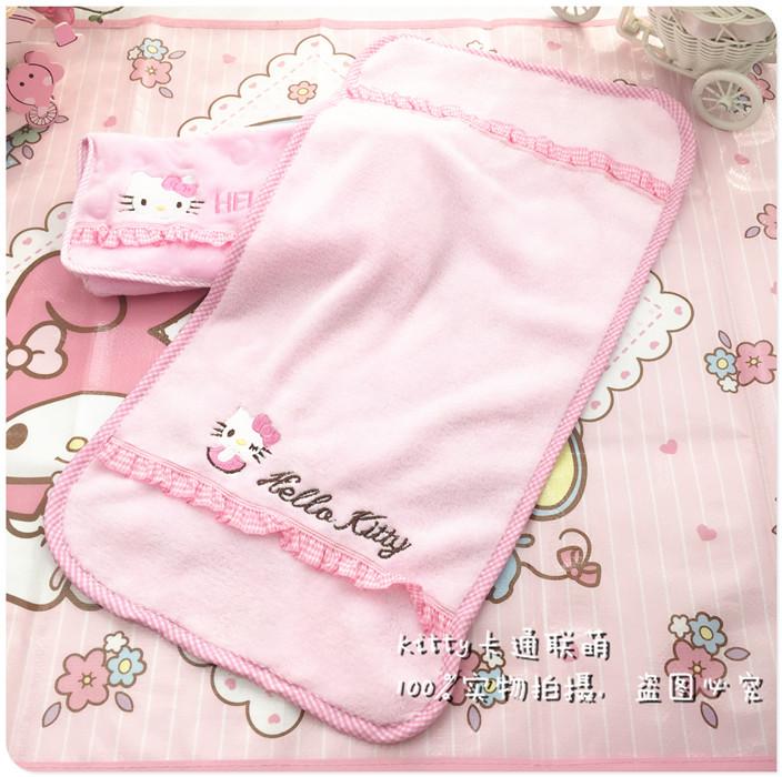 卡通hello kitty 凱蒂貓 珊瑚絨 強吸水 多功能 幹發兒童毛巾面巾