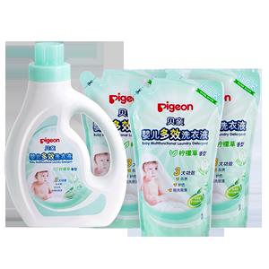 【贝亲官方旗舰店】 婴儿多效洗衣液 宝宝专用衣物清洁家庭套4.2L
