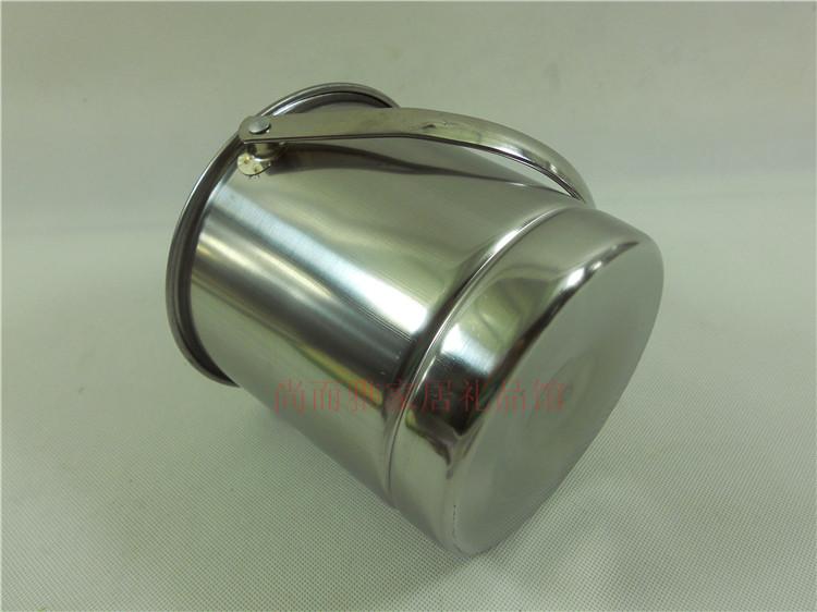 5个包邮不锈钢冰桶 送冰夹加厚KTV酒吧会奶茶店小水桶提手冰块桶
