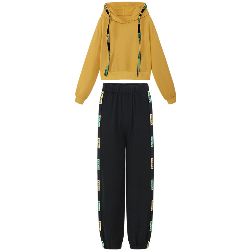 新款小个子连帽卫衣洋气裤子时尚休闲两件套 小象秋季套装女  MG 2019