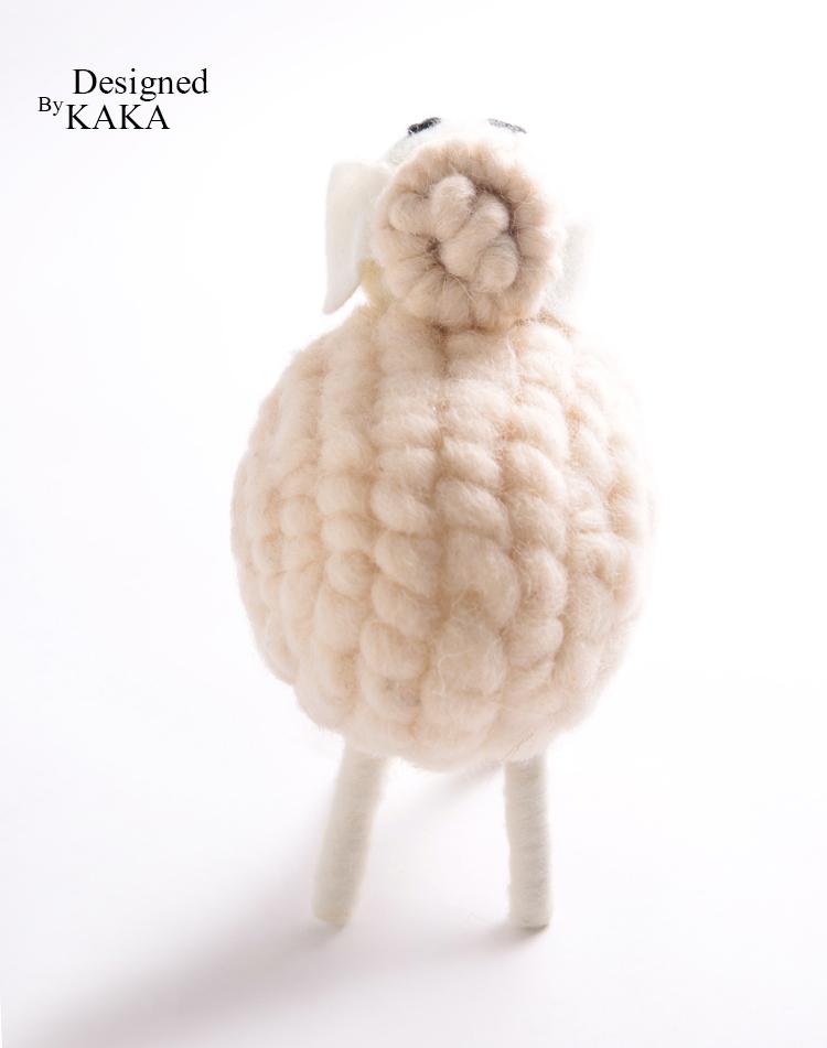 北欧家居设计师妃粉色调羊毛手工丸子头痞姓领头羊 小件特惠 KAKA