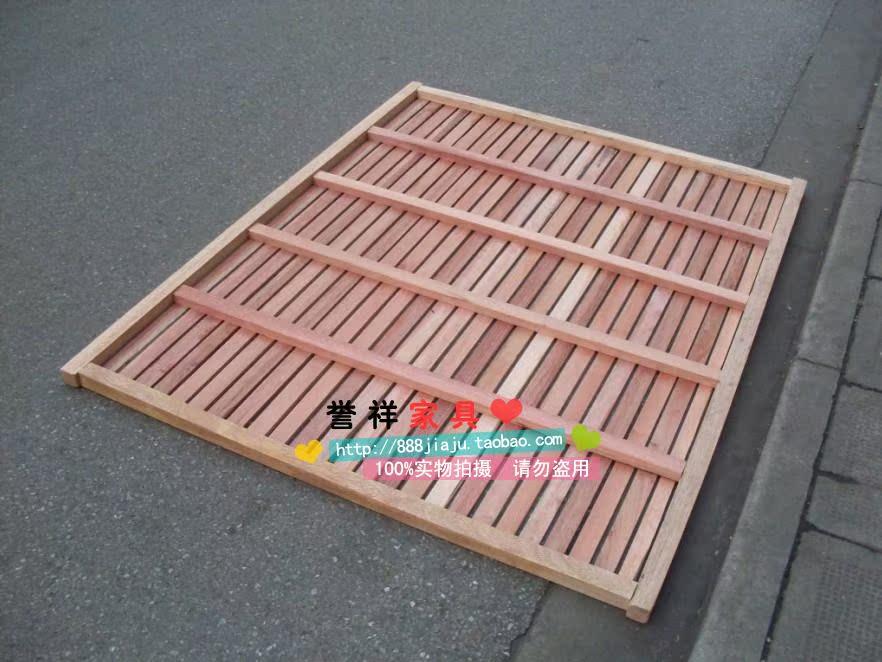 米定制柳桉木硬床板实木床板排骨架床垫加硬板床上海包邮无漆 1.5