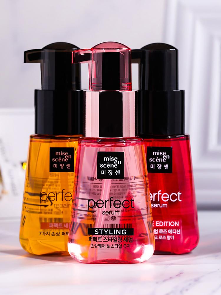 韓國愛茉莉護髮精油保溼修復捲髮乾枯毛躁免洗護髮油 玫瑰水蜜桃
