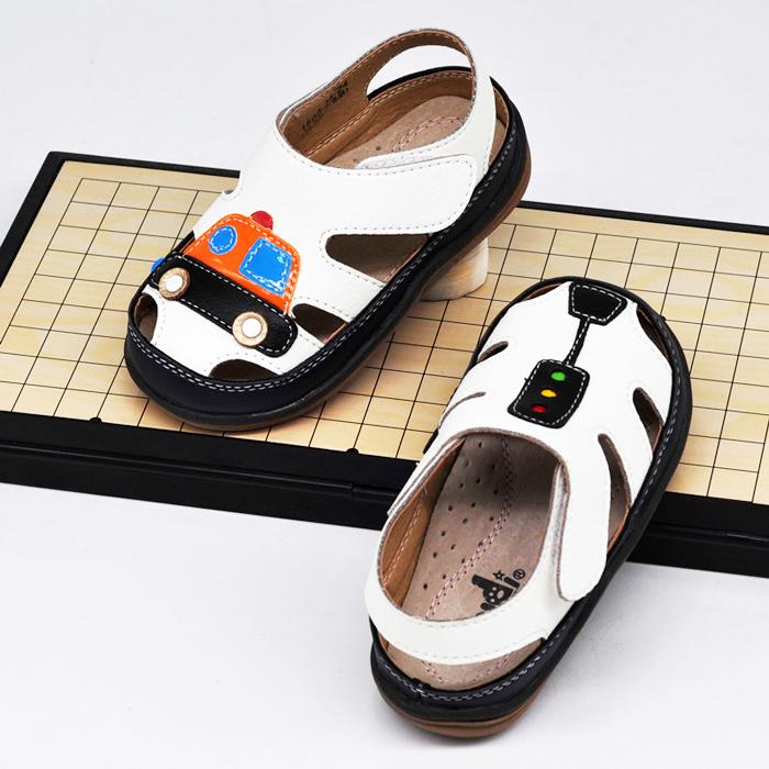 汽车男小童凉鞋3-6岁夏季1-3岁包头男童凉鞋2019新款韩版宝宝软底