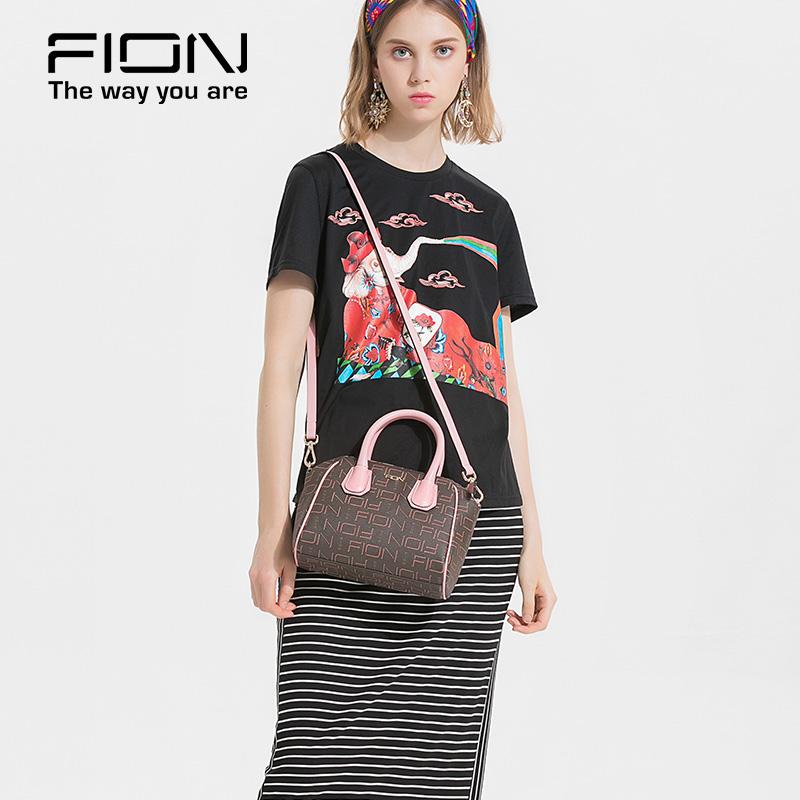 FION/菲安妮歐美時尚手提包印花翅膀包 單肩斜挎小包女迷你手挽包