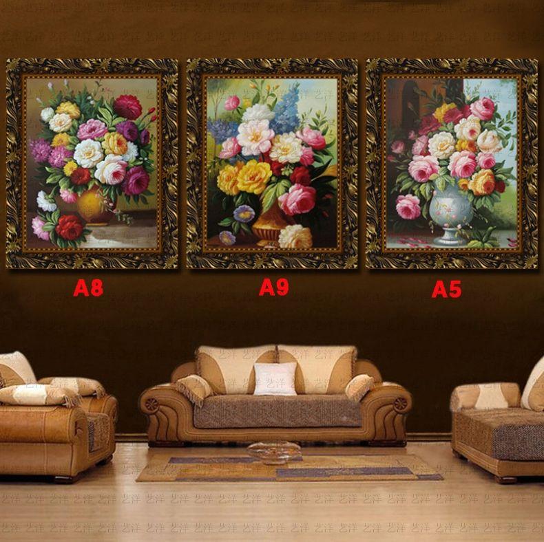 油畫歐式客廳牡丹花卉梵高人物新古典純手繪餐廳臥室玄關掛畫壁畫