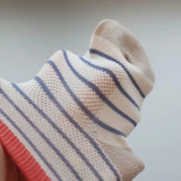 斑比童袜春夏薄款 3-5-6-7-9岁 男女儿童宝宝纯棉无骨网眼袜包邮