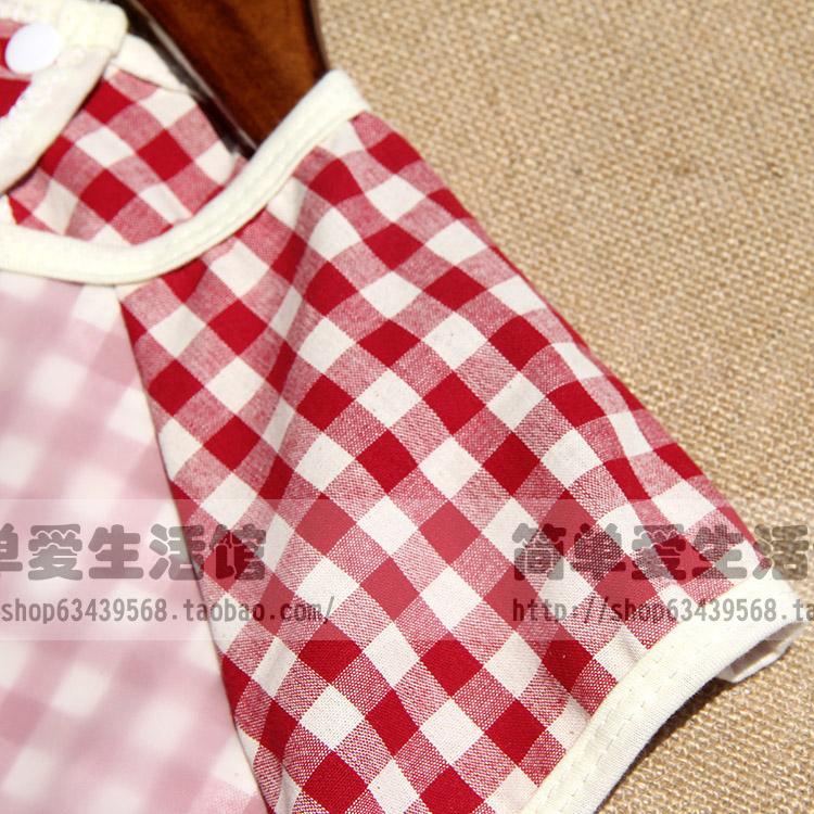 四季卡通刺绣儿童罩衣宝宝棉麻防水口水吃饭围兜男女童画画反穿衣