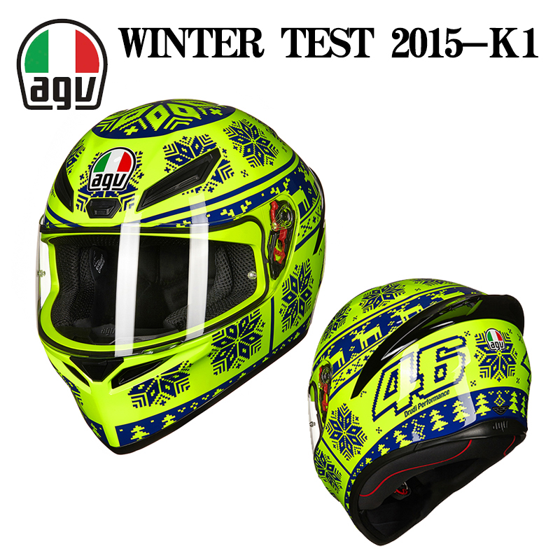 AGV K1头盔四季通用冬季防雾摩托车机车赛车全盔覆式男女个性酷K3