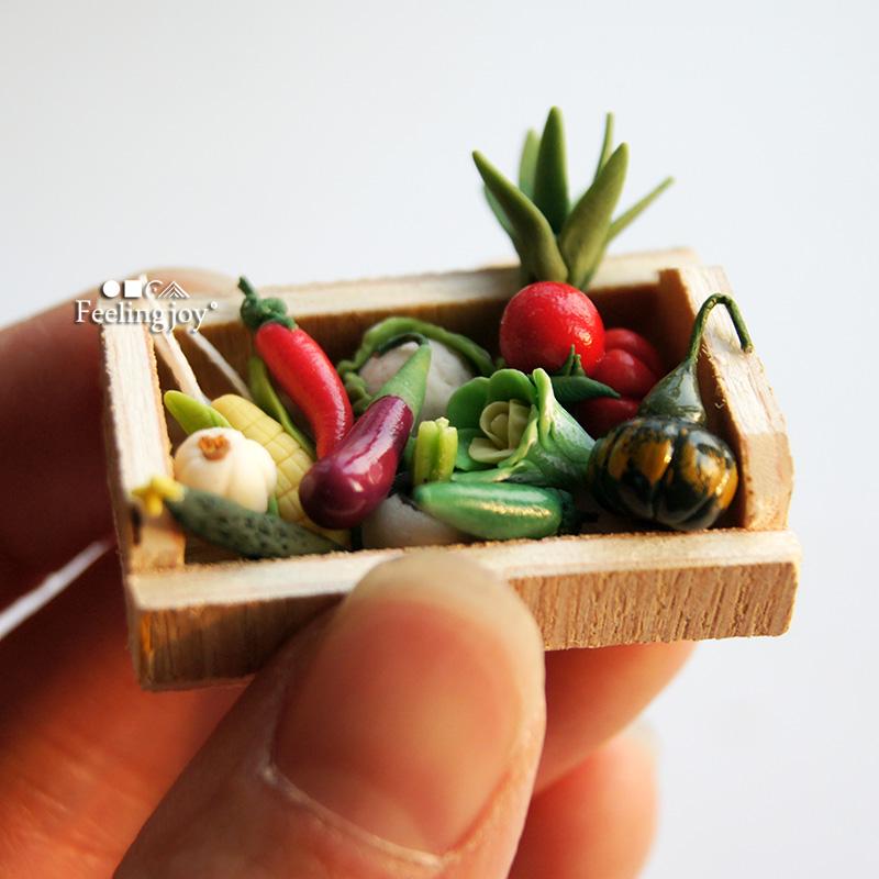 1:12迷你娃屋1:24diy小屋场景配件模型道具食玩仿真微缩粘土蔬菜