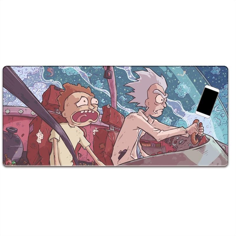 瑞克和莫蒂動漫周邊超大筆記本電腦辦公桌墊鼠標墊 Morty and Rick