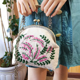 Embroidery handmade diy Mobile Messenger bag mouth gold package material made from square cosmetic bag antiquity gift woman