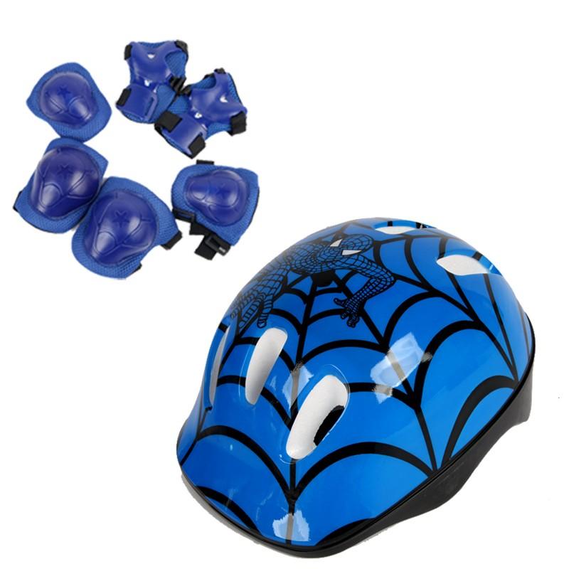 真小子轮滑护具儿童头盔套装滑板车溜冰防摔护膝加厚骑自行车护具