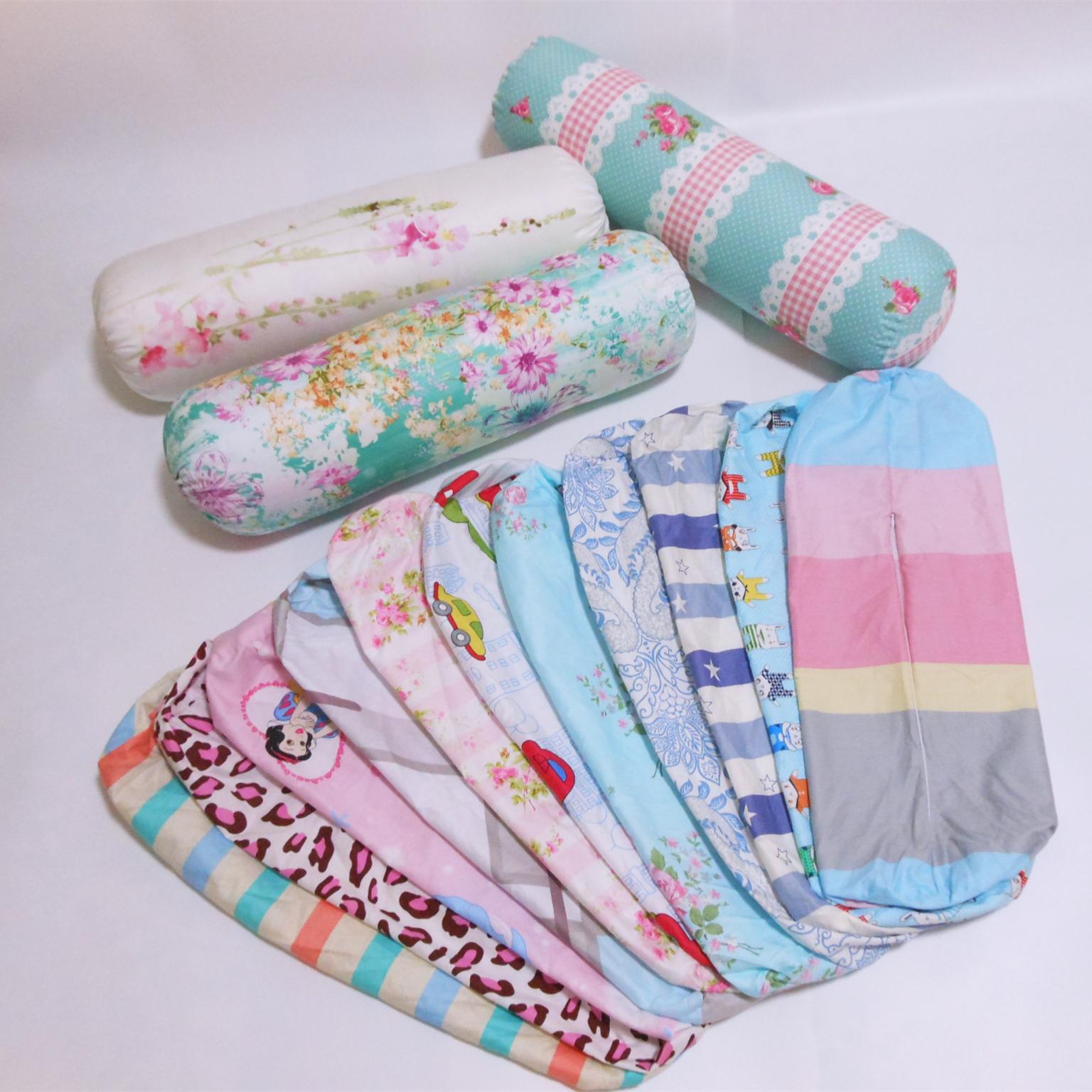 全棉抱枕套不含芯 圓柱枕套長條枕套糖果枕頭套靠墊腰枕套可定做