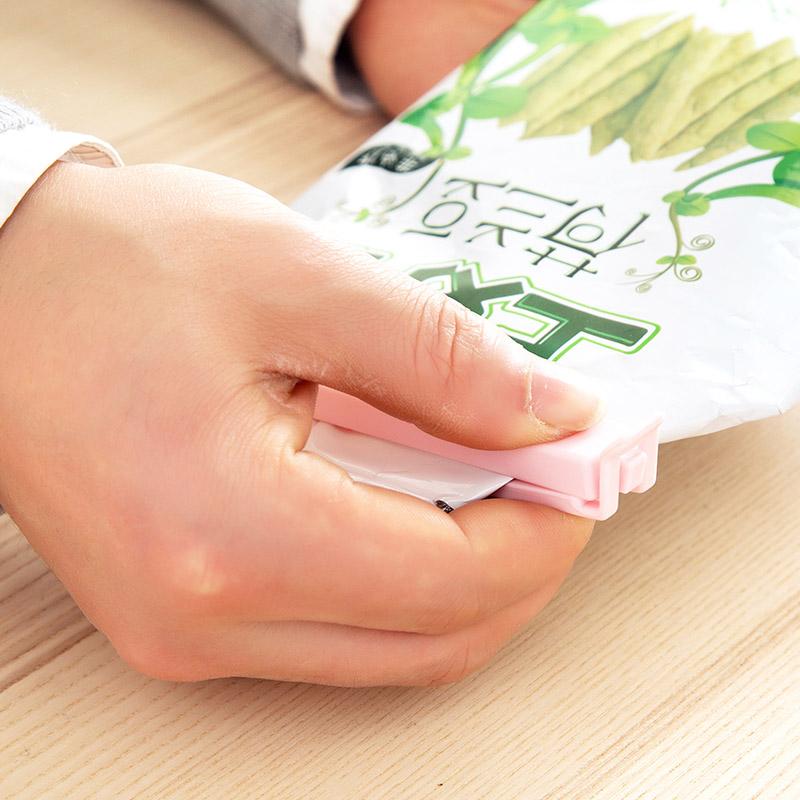 居家家 素色食品袋密封夹食物保鲜夹子 小号塑料袋零食袋子封口夹