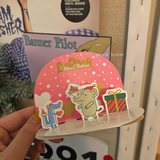 * Green house * Korea ins to suit your ten friends Christmas cards envelopes Stickers