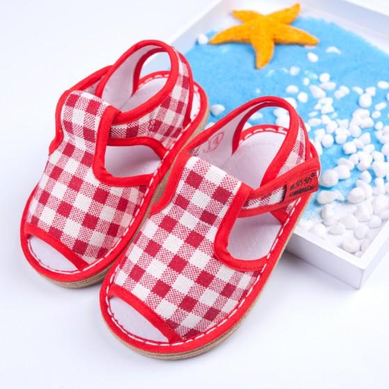 老北京学步鞋男儿童手工千层底布鞋女小童宝宝布凉鞋夏2软底1-3岁