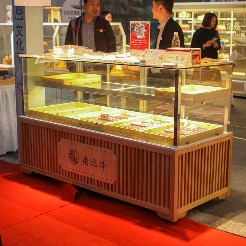 面包柜面包展示柜面包展柜玻璃柜台中岛柜货架糕点柜蛋糕展示柜
