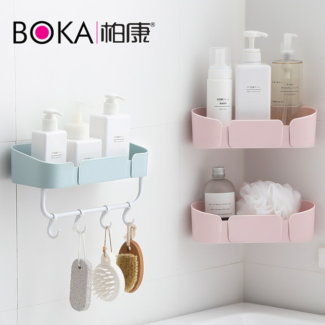 Bathroom shelf toilet washstand towel storage punch free wall wall shower wall toilet