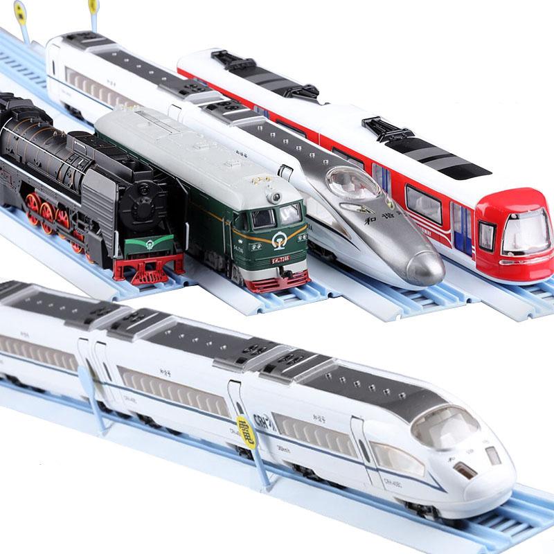 玥乐和谐号高铁合金火车头动车地铁磁力声光复兴号汽车模型玩具