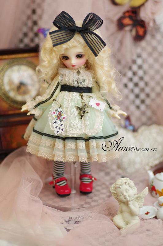 AMORS娃衣BJD洋装洋服SD女1/6分尺寸娃娃衣[爱丽丝]连衣裙现货