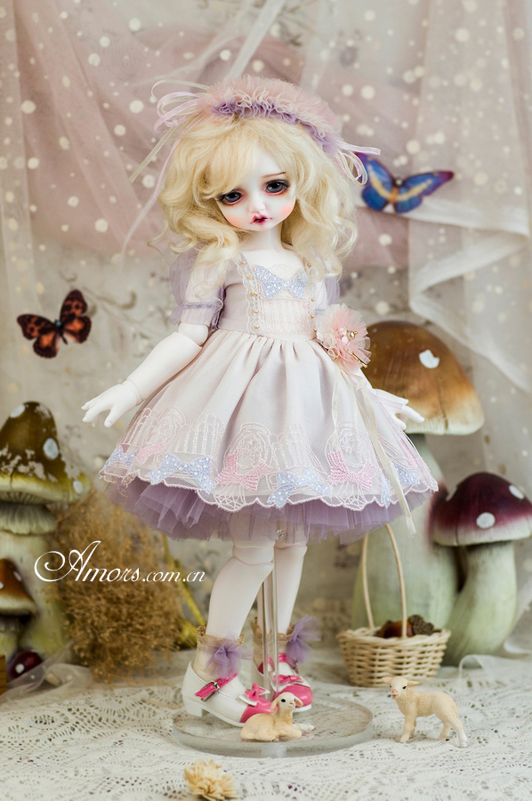 AMORS套装bjd娃娃衣服sd洋服装4分RL巨婴6分香草玛卡龙连衣裙限量