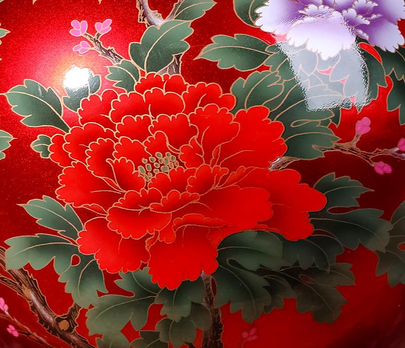 歐式客廳擺件瓷器插花裝飾品創意家居復古 中國紅花瓶 景德鎮陶瓷