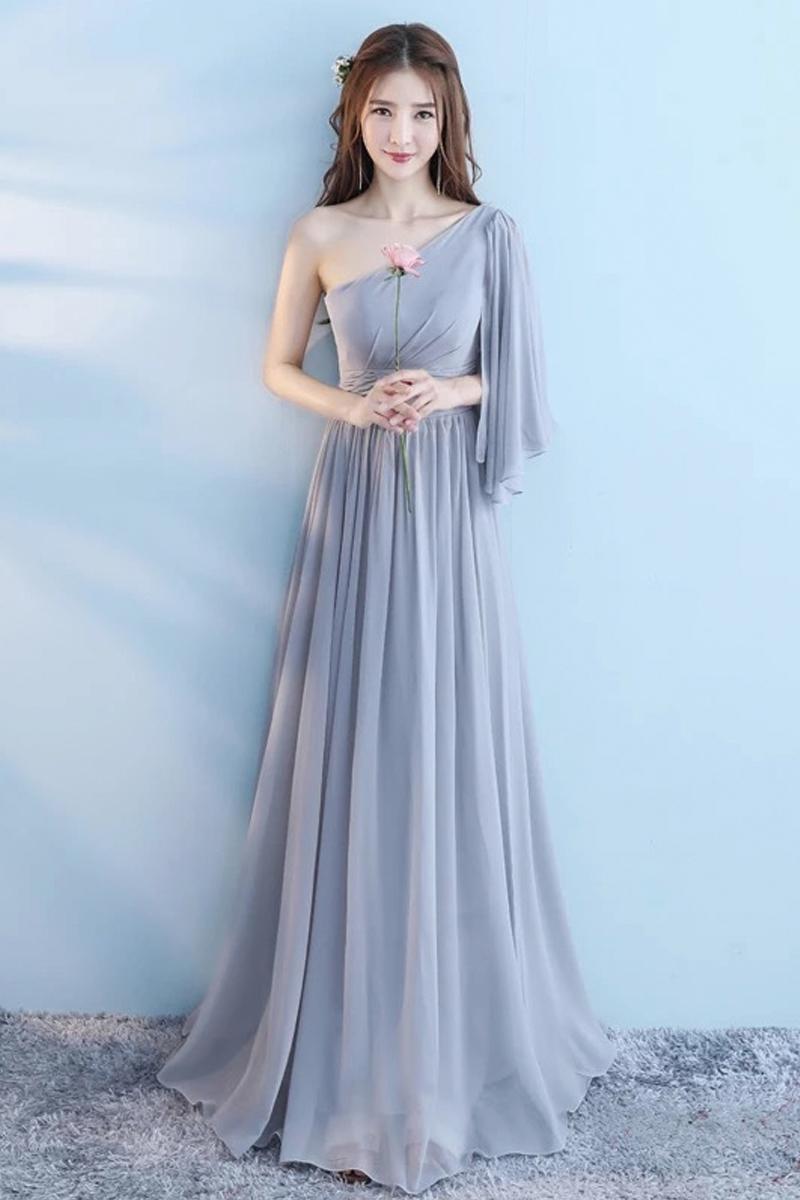 出租伴娘服长款新款灰色伴娘团姐妹裙伴娘礼服连衣裙晚宴会礼服女