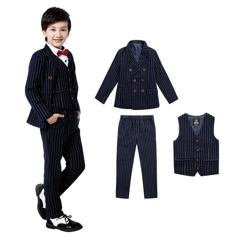 可乐凡尼儿童西服套装男孩礼服套装小西装秋演出服男童钢琴表演服