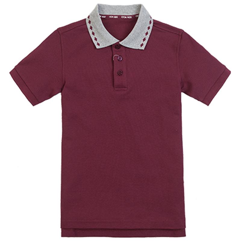 伊顿纪德夏装校服英伦学院女童短袖T恤16T212/男童短袖T恤16T102