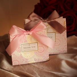 结婚喜糖盒子高档婚礼物手提袋伴娘伴手礼盒女抖音创意喜糖礼盒装