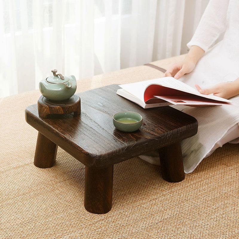 飘窗桌实木小户型茶几简约迷你阳台茶桌炕桌方桌日式榻榻米矮桌子