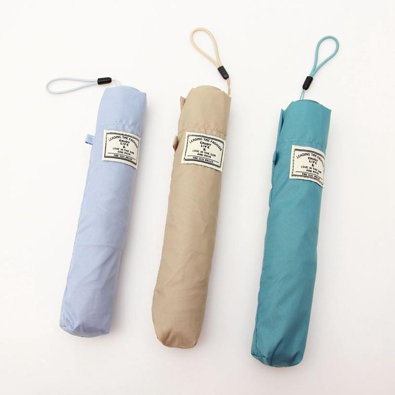 日本輕量碳纖羽毛99克傘超潑水晴雨傘防曬防紫外線文藝素色鉛筆傘