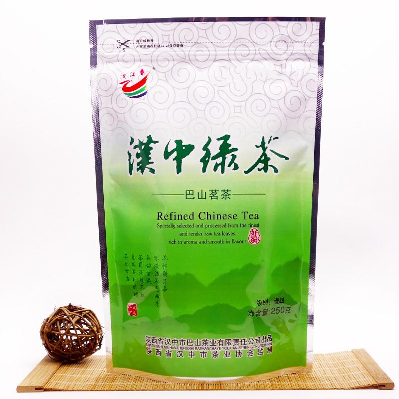 2018新茶汉中绿茶炒青茶 汉中炒青绿茶叶西乡绿茶陕西陕青茶10送1