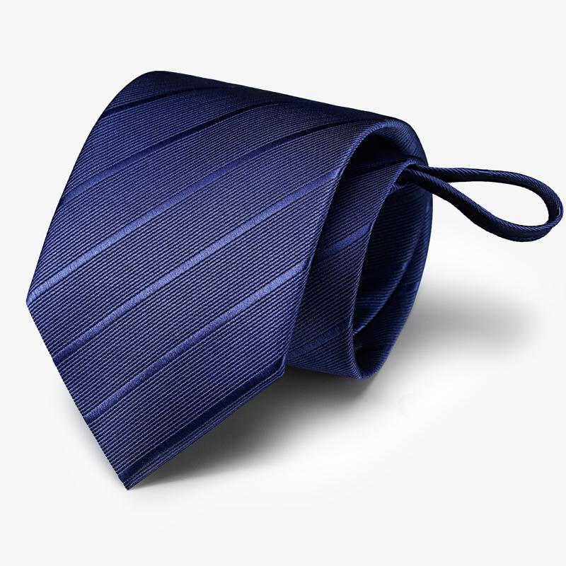 领带男士正装商务红黑色学生职业结婚新郎韩版懒人拉链西装衬衫宽