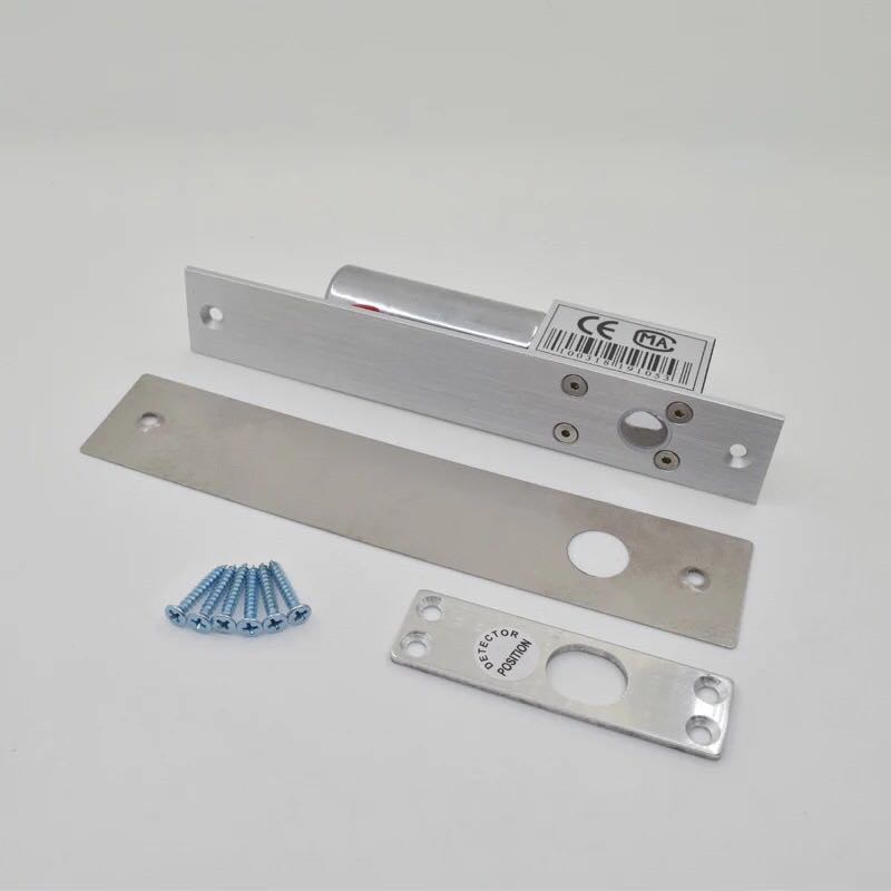 门禁12V专用电插锁 2线 5线延时低温反馈电磁锁 B005玻璃门插销锁