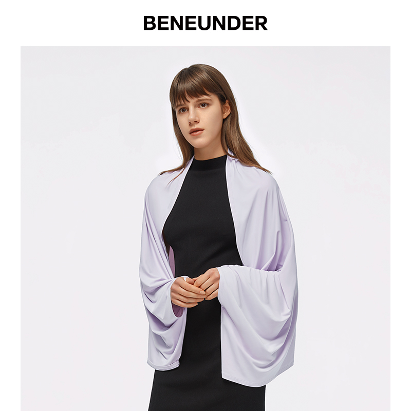 蕉下防晒防紫外线披肩薄款冰丝女夏季遮阳室内海边外搭百搭开衫